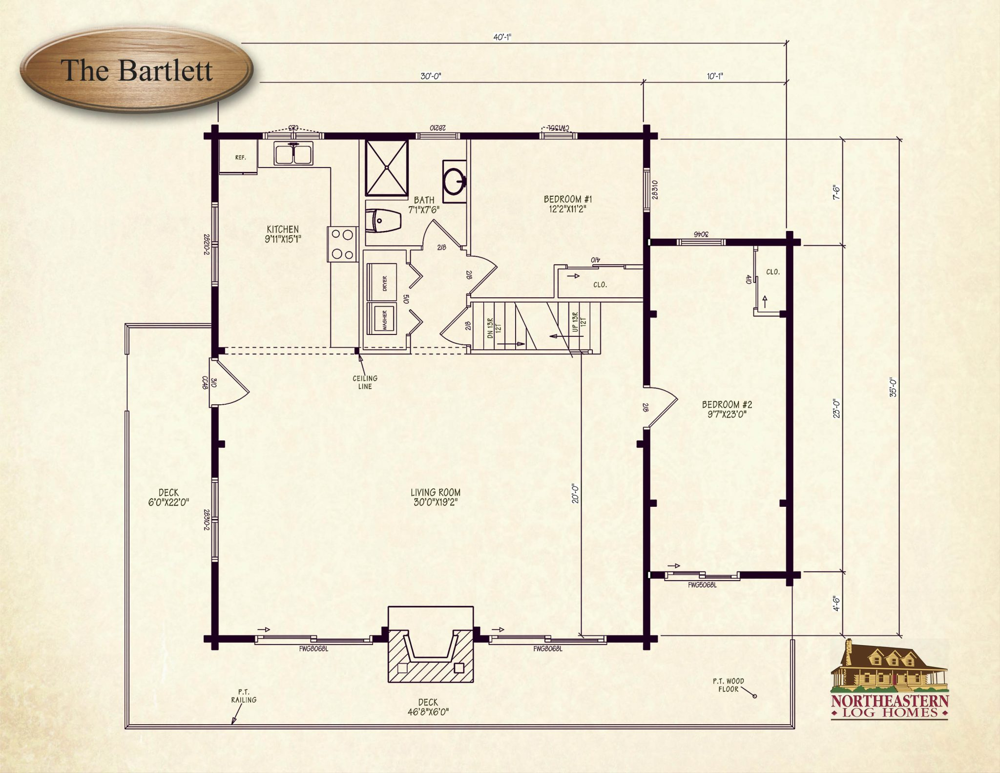 The Bartlett Northeastern Log Homes